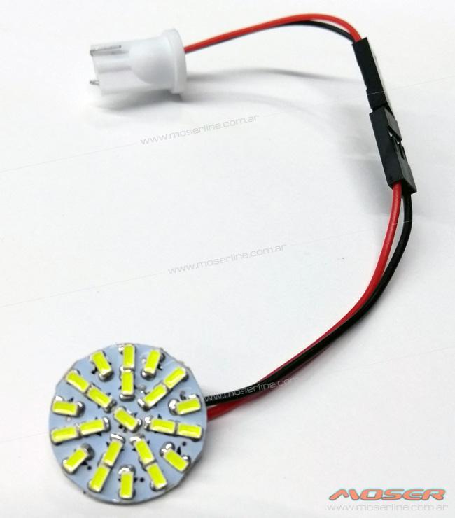 Plaqueta Circular con 22 Led adhesiva - Diámetro 20mm - Imagen 1