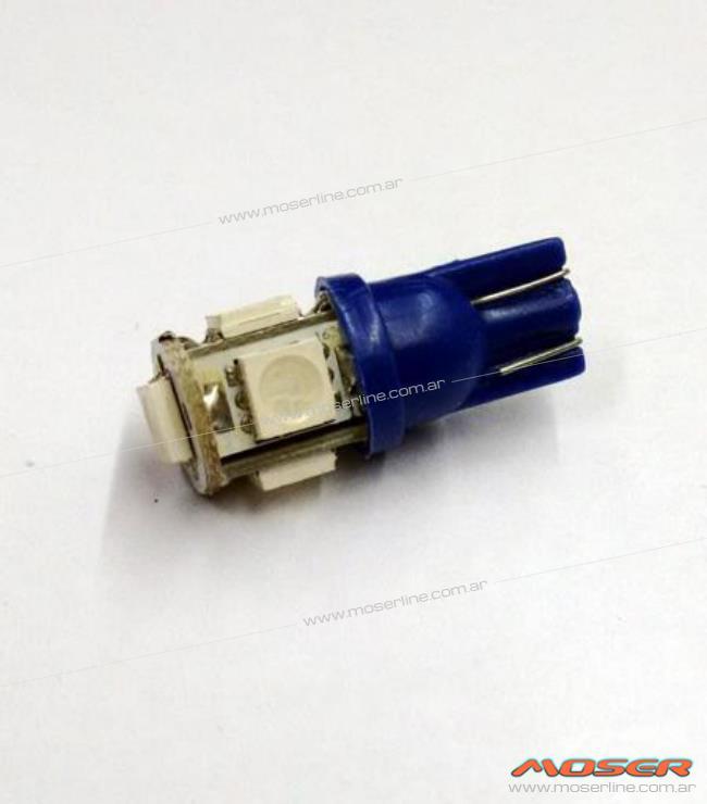 Led T10 5 SMD Azul - Imagen 1