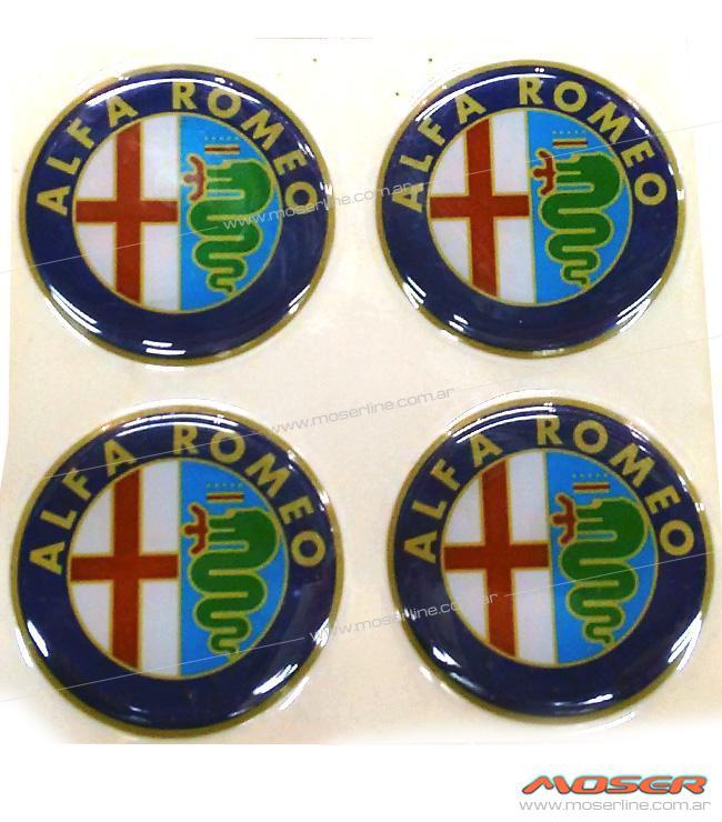 Centros de llanta Alfa Romeo 49mm en resina - Imagen 1