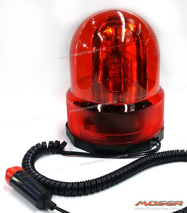 Baliza giratoria roja 12v - Imagen 1
