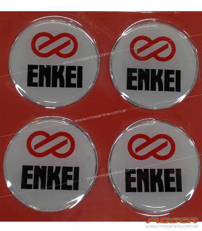 Centros de llanta ENKEI fondo blanco 49mm en resina - Imagen 1