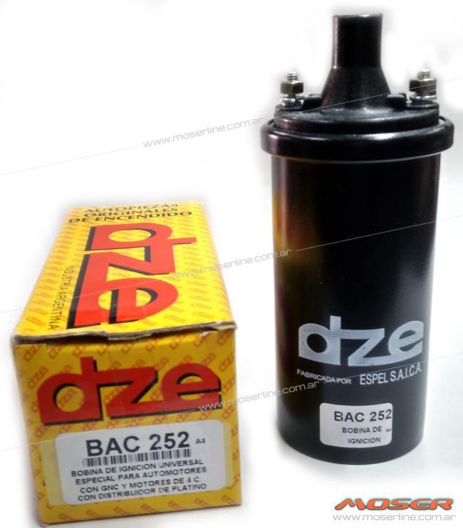 Bobina de ignición universal especial para automotores con GNC 4 cil a platino - BAC 252 - Imagen 1