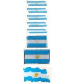 Banderas Argentina resina varios tamaños