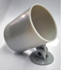 Carcaza instrumental 52mm plastica gris