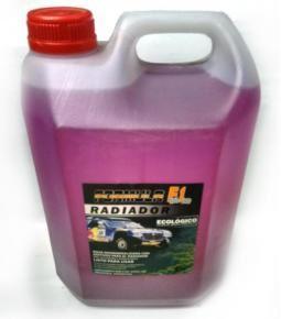 Bidón 5L. agua destilada con aditivos para el radiador rosa