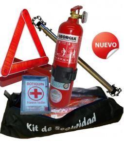 Kit de Seguridad Reglamentario (Matafuego, jgo. de balizas, cuarta y botiq.)