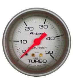 Presion de turbo 50 psi racing plata
