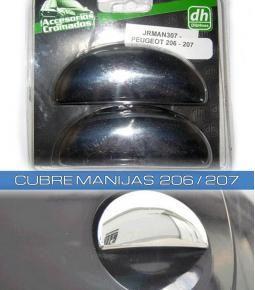 Cubre manijas cromadas - Linea Peugeot 206 / 207
