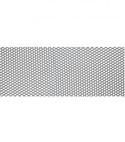 Grilla de aluminio rombo chico 100 x 25cm
