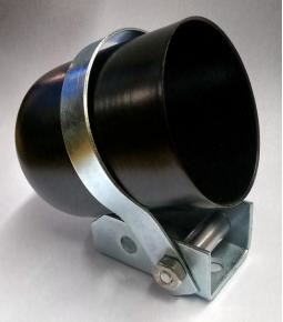 Carcaza instrumental 52mm metal negra