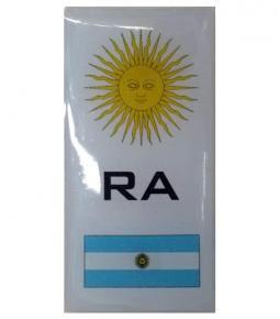Bandera RA Argentina resina