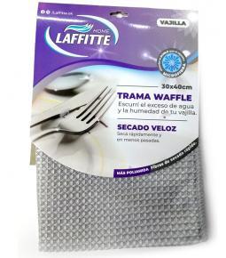 Paño Microfibra Trama WAFFLE 30X40 cm / Secado Veloz