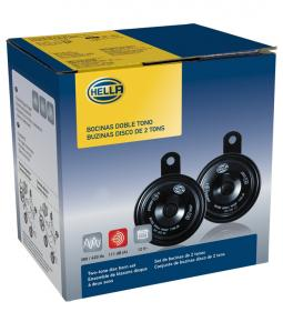 Juego de Bocinas Hella Universal 12v 350/420 Hz 111 dB (A) / Diámetro 77mm