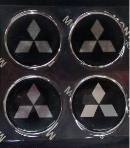 Centros de llanta Mitsubishi 49mm en resina