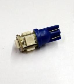 Led T10 5 SMD Azul