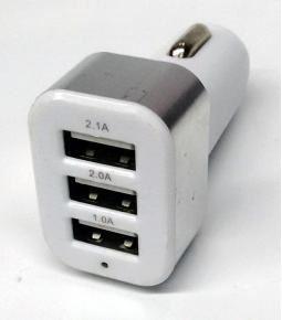 Cargador USB triple 1.0A 2.0A 2.1A