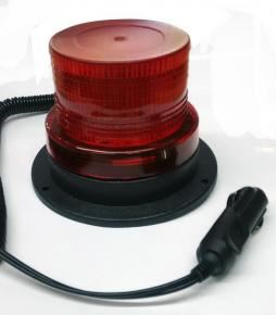 Baliza Flash LED 12V Roja base con imán