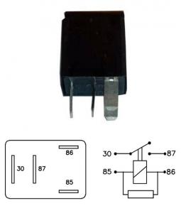 Micro Relay 9167 12V 20A con resistencia
