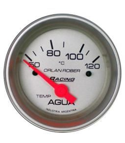 Temp. agua elect 12v 120°c racing plata