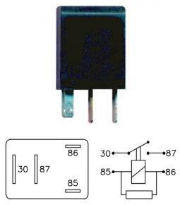 Micro Relay 9020 12V 20A con resistencia