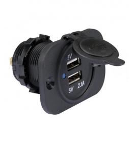 Doble puerto USB con base plastica
