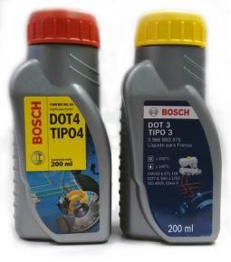 Liquido de frenos BOSCH DOT 3 y DOT 4 200ml