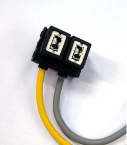Ficha 2 vías para lampara H7 reforzada