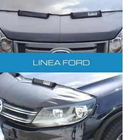 Media mascara de cuerina con felpa interior. Linea Ford Ka, Fiesta, Ecosport, Focus, Escort, Mondeo, F100, Courier, Transit