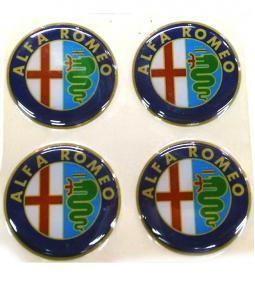 Centros de llanta Alfa Romeo 49mm en resina