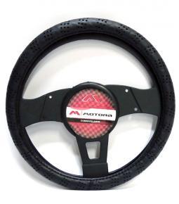 Cubre volante Negro con Detalle Agujeros