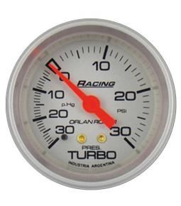 Presion turbo -30p.hg / 30psi racing plata