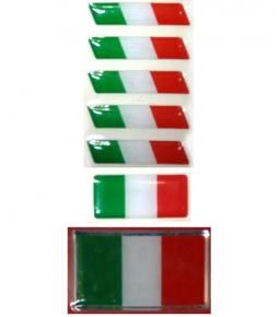 Banderas Italia resina varios tamaños