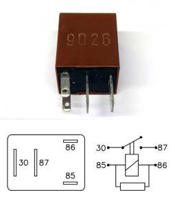 Micro Relay 9026 12V 20A interruptor simple con resistencia