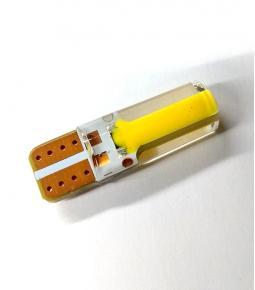 LED T10 Gel Largo Ambar 12v 6 LED