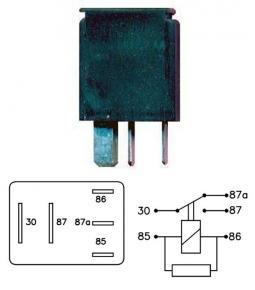 Micro Relay 9108 inversor simple con resistencia 12V 20/10A