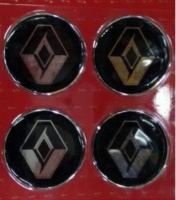 Centros de llanta Renault fondo negro 49mm en resina