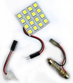 Plaqueta con 16 led adhesiva con adaptadores