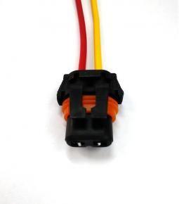 Ficha 2 vías para lampara 9005 HB3 / 9006 HB4