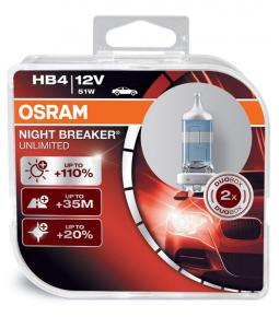 Lamparas HB4 9006 12v 51w Osram Night Breaker Unlimited