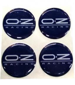 Centros de llanta OZ azul 49mm en resina