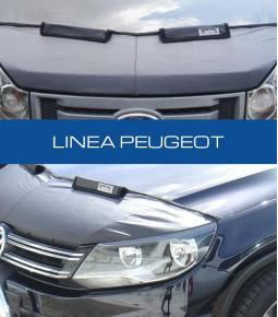 Media mascara de cuerina con felpa interior. Linea Peugeot 206, 207, 208, 307, 308, 405, 406, 407, Partner