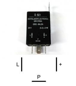 Destellador electrónico 24V 3 terminales