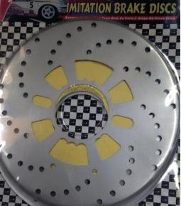 Simil disco de frenos plateado