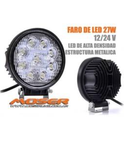 Faro LED Redondo universal 27W