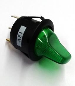Llave de 1 punto con luz verde