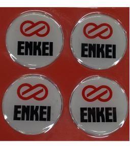 Centros de llanta ENKEI fondo blanco 49mm en resina
