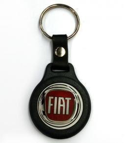 Llavero plástico y resina logo Fiat