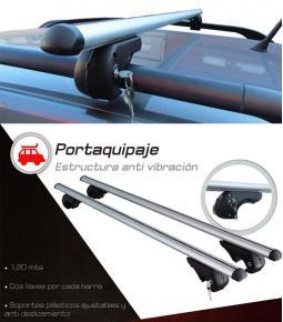 Barras portaequipaje de aluminio con llave para vehículos con barandas