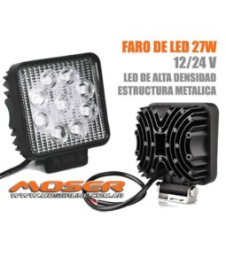 Faro LED Cuadrado Universal 27W