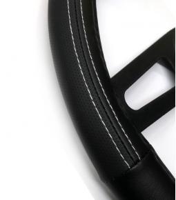 Cubre Volante Cuerina Con Costuras Blancas 37-39 cm